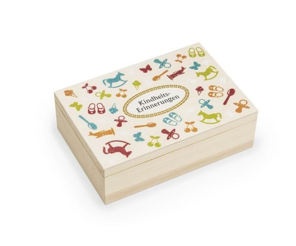 Kindheitserinnerungen in der Holzbox aufbewahren