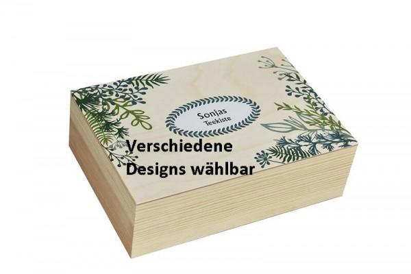 Holzboxen zur Aufbewahrung für eigene Wünsche personalisierbar