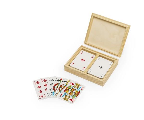 Kartenbox Rommee Holzbox- Spielkartenbox