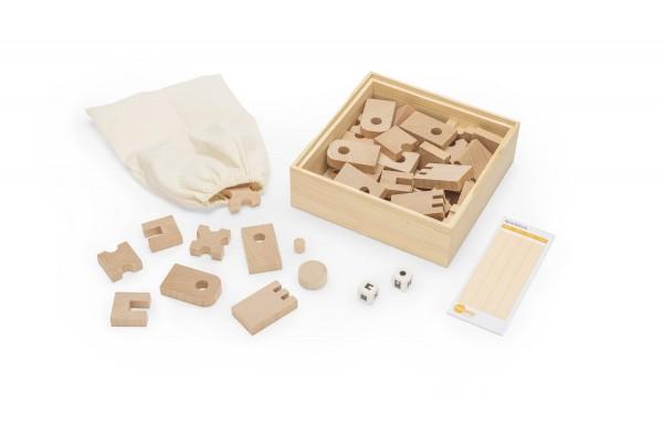 Spiele- & Sinnesbox - Inhalt, Holzspiel für die Sinne