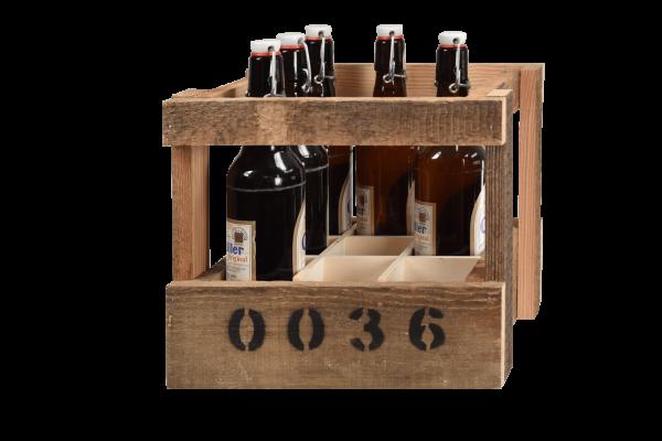 Bierkiste aus Holz vintage handgemacht