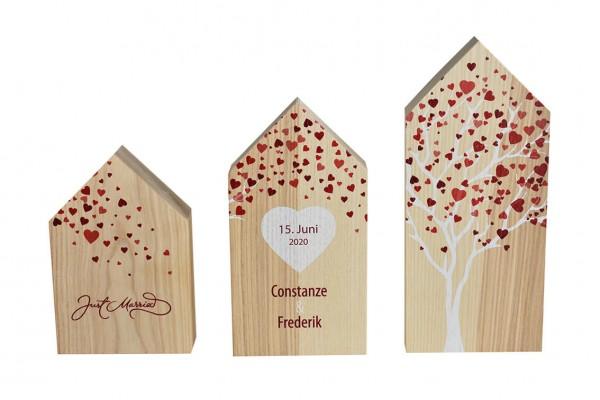 Holzhäuser Set für eigene Wünsche personalisierbar