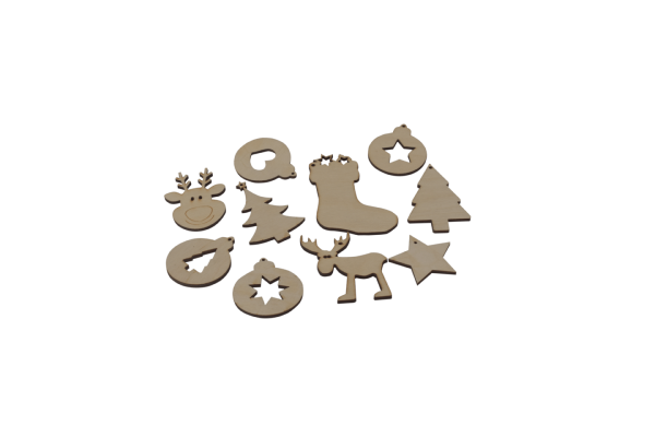Weihnachtliche Geschenkanhänger gelasert