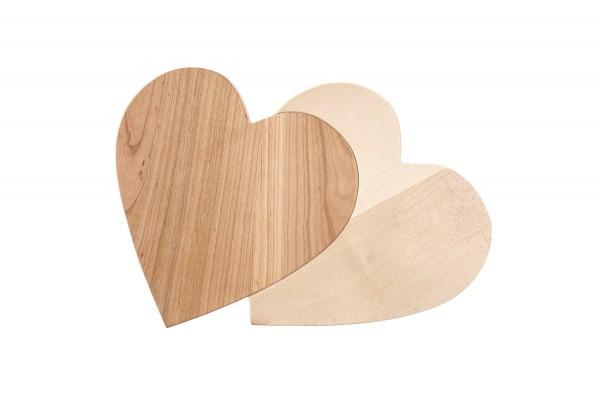 Doppelherz - Holz Herz mit Gravur